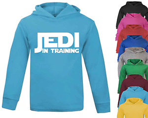 Jedi in Training Star Wars Inspired Baby Hoodie Jumper 100/% Cotton Baby Gifts