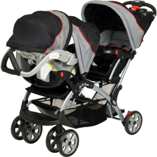 Double Baby Stroller Infant Twin Jogging Buggy Carriage Tandem Car Seat Fold New