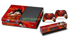 DBZ Dragon Ball Z Son Goku Saiyan Vinyl Skin Sticker Decal Protector Xbox One
