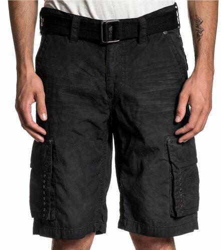 Men/'s Cargo Shorts Affliction Black Premium Black // Tint NEW OPTIMAL