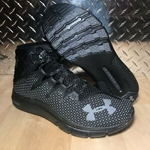NEW-UNDER-ARMOUR-PROJECT-ROCK-DELTA-BLACK-GREY-TRAINERS-3020175-001-MENS-SZ-7