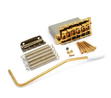099-2049-202 Genuine Fender Lefty Vintage Gold Block Strat Tremolo Bridge