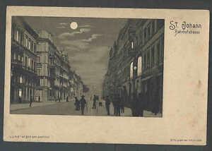 Ca 1901 PPC* Hold To Light St Joseph Rahnhofstrasse Luna-Moon Over Street Mint