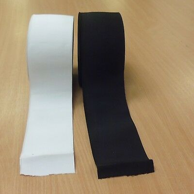 "Premium Quality Woven Elastic in White and Black Wide 4/"" inch 100mm"