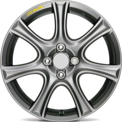 8pcs Audi Decal Sticker Wheels Rims Logo Emblem YELLOW A4 A5 A6 A7 A8 S4 S5 S6