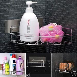 Image Is Loading CHROME STRONG BATHROOM CADDY CORNER SHAMPOO SOAP HOLDER