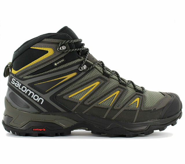 786139d0489 Salomon x Ultra 3 mid GTX Gore-Tex Men's Hiking Shoes 401337 Grey Trekking  Shoes