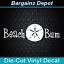 Vinyl Decal. BEACH BUM w// Sand Dollar. Car Boat Cooler Laptop Ocean Sticker