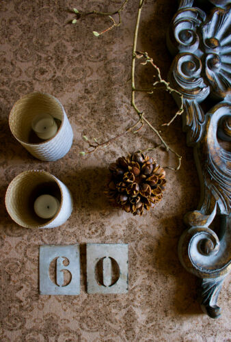 Vlies Tapete Barock Muster Ornament kupfer braun glitzer effekt
