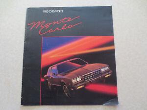 1985 chevrolet monte carlo advertising booklet ebay rh ebay ie 1984 Chevrolet Monte Carlo 1977 Chevrolet Monte Carlo