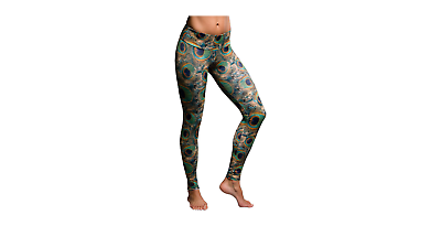 dda1f2bb6a17 Onzie Women s Long Leggings Peacock Green Size M L Style  209-PEG J ...