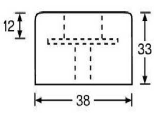 Gummifüße Ø 38 x 33 mm Stahleinlage Adam Hall 4913 Gerätefuß Möbelfüße Gummifuß
