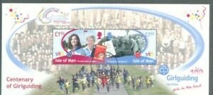 Isle Of Man-girl Directeurs-centenaire Camp Surimpression Min Feuille Fine Used/cto-ary Camp Overprint Min Sheet Fine Used/ctofr-fr Afficher Le Titre D'origine Belle En Couleur