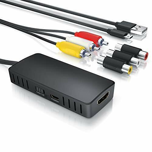 kompatibel zu Pal und AV Composite Adapter RCA auf HDMI Konverter CSL