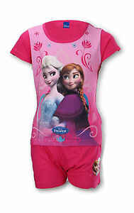 Disney-Frozen-Princesse-Elsa-Anna-Court-Fille-Pyjama-Age-36-41-An