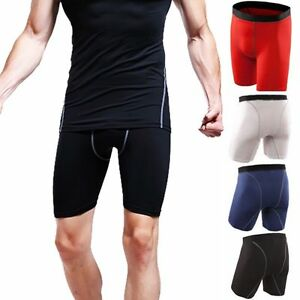 Mens-Sports-Compression-Wear-Shorts-Pants-Athletic-Under-Base-Layer-Tights-Skin