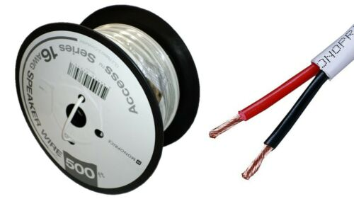 500ft MP Access Series 16AWG CL2 Rated 2-Conductor Speaker Wire