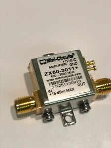 Details about MINI-CIRCUITS ZX60-3011+ BROAD BAND LNA 400Mhz - 3 0Ghz 21dBm  RF AMP fbb16~5