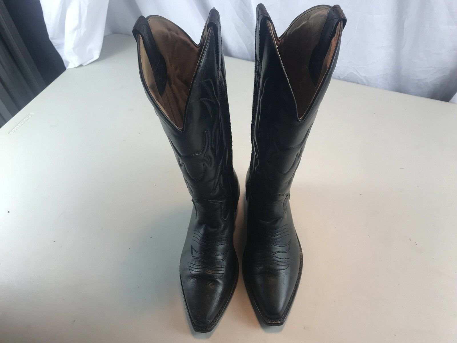 Cole Haan Womans 7B nero Leather High Fashion Cowboy Western stivali