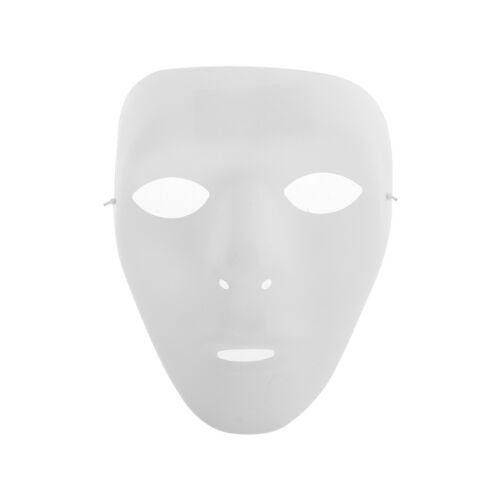 Plastic Plain Full Face Mask Party Dance Costume Crew For Hip Hop Dance//Opera