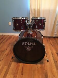 Tama Imperial Star Wine Red Color Complete Drum Set Ebay