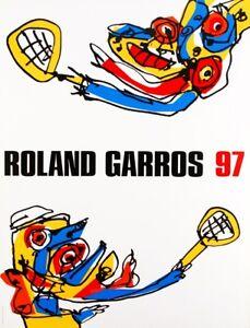 ANTONIO-SAURA-ROLAND-GARROS-1997-Originalentwurf-Farboffsetlithografie