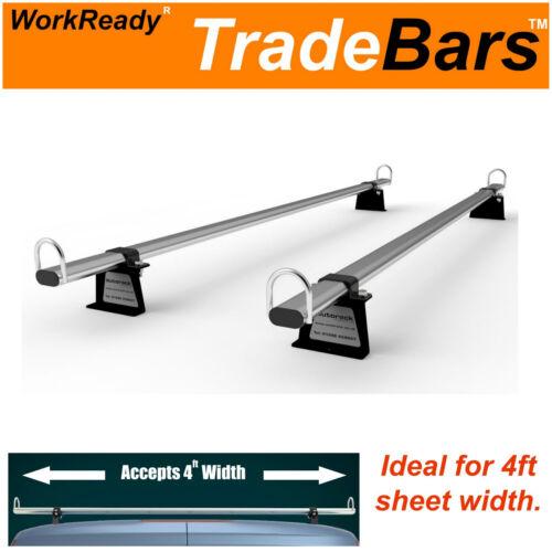 2 bares y Kit Comercio-barras Baca Barras De 2 Para VW Transporter Van T5 y T6 Nuevo