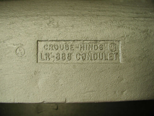 """Crouse Hinds LR 888 3/"""" Condulet"""