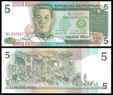 Filippine 5 PISO Sign 14 ND 1995 P 180 UNC