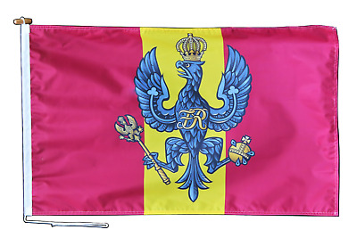 King/'s Royal Hussars British Army Deluxe Table Flag