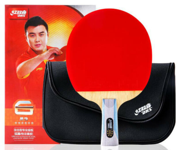 Paddle DHS R6006 w  5 gifts Racket Table Tennis 6 Star Short Handle Ping  Pong a3d7766d56661