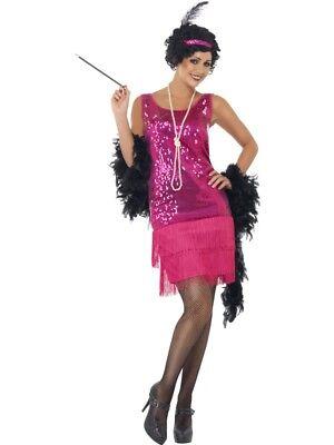20er Jahre Charleston Kleid Pink Damen Gatsby 20ies Kostüm