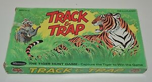 Vintage-1969-Jungle-Tiger-TRAP-amp-TRACK-Board-Game-Whitman-Rare-COMPLETE