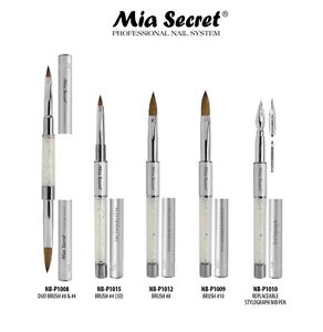 Mia-Secret-Nail-Brush-KOLINSKY-Duo-3D-4-amp-8-10-Stylograph-With-Crystals