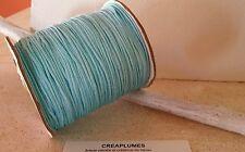 Lot de 5m cordon fil de nylon pour bracelet , 1.5mm  bleu ciel