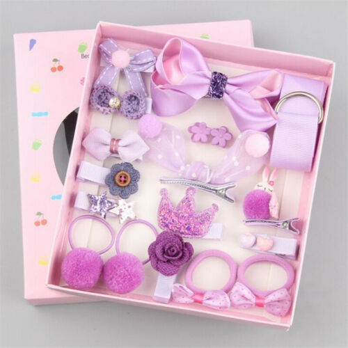 18PCS Baby Girls Hairpin Head Wear Elastic Bow Knot Barrette Clip Kids Gift