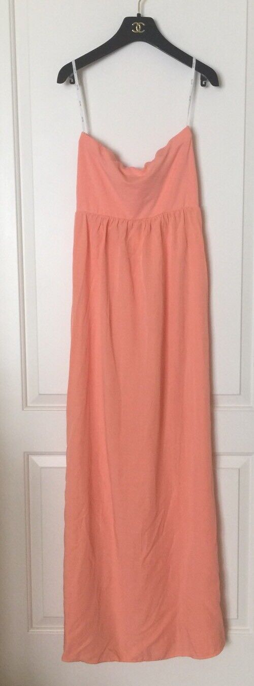 NEW Splendid Melon Coral Dress Strapless Long Maxi Dress, SZ XS