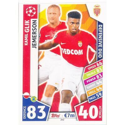 Beminnelijk Match Attax Champions League 17/18 - 252 - Kamil Glik / Jemerson - As Monaco Fc