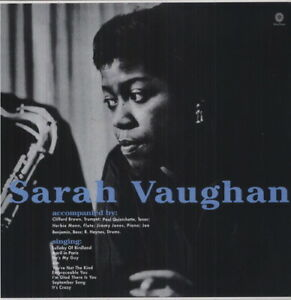 Sarah-Vaughan-With-Clifford-Brown-New-Vinyl-LP-Bonus-Track-180-Gram-Rmst