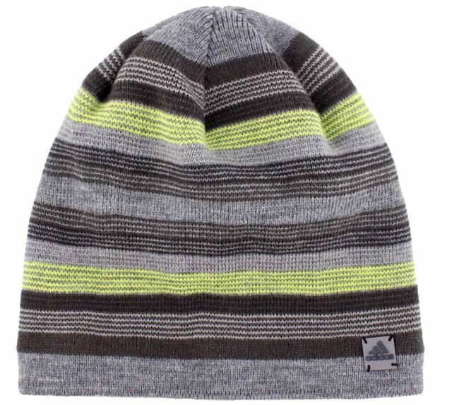 c7b6398c4c1192 adidas Men's Keystone II Striped Beanie Lined Climawarm Moisture Wicking  OSFA