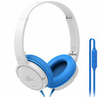 Soundmagic P11-s Headphones Headset With Mic. For Gaming Pc Skype, White/blue