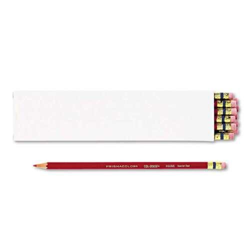 Scarlet Red Lead//Barrel Prismacolor® Col-Erase Pencil w//Eraser 070530200669
