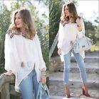 ZARA White Embroidered Mirror Plumetis Blouse Tunic Top M 12 14 BNWT 7200 023