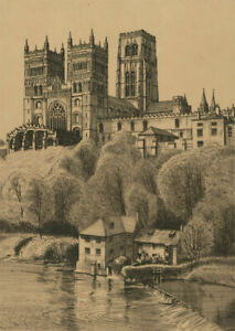 Alan-Carr-Linford-RE-RWS-b-1926-Mid-20th-Century-Etching-Durham-Cathedral