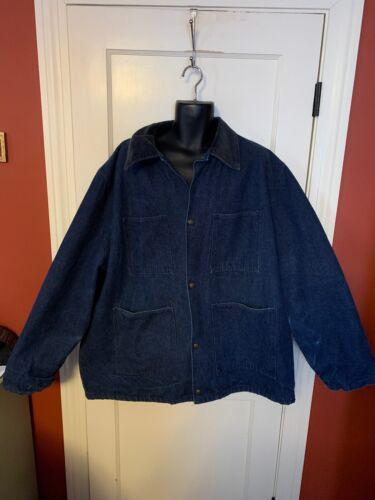 Vintage WALLS Chore Jacket Men's Large XXL Denim W
