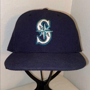 Men-039-s-NEW-ERA-SEATTLE-MARINERS-MLB-Baseball-Hat-59-Fifty-Cap-Navy-Blue-7-5-8