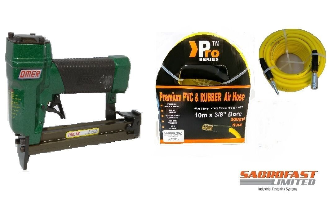 OMER T50.16  AIR STAPLER WITH 10M AIR HOSE