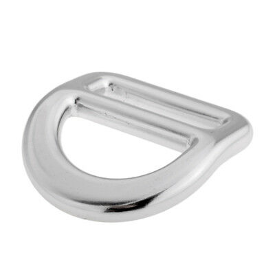 Heavy Duty 23KN Slotted Bent D Ring for Rock Climbing Caving Safety Harness