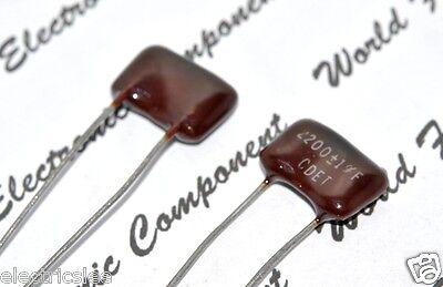 Cornell Dubilier 2200P 500V 5/% Silvered Mica Capacitor 1pcs 2200PF 2.2nF