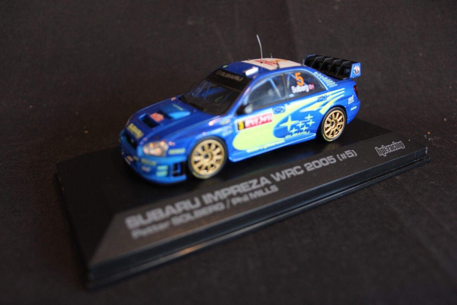 HPI Racing Subaru Impreza WRC 2005 1 43 Solberg   Mills Rally Japan 2005
